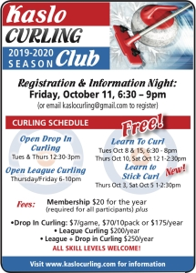 Kaslo Curling Pennywise Oct 1
